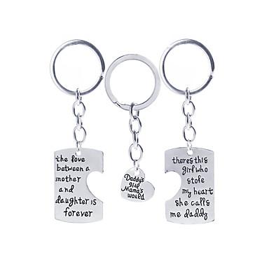 3pcs cadou tatălui și mamei cadou suveniruri sau cadou ziua de nastere keychain pentru cel mai bun tată și familie mama