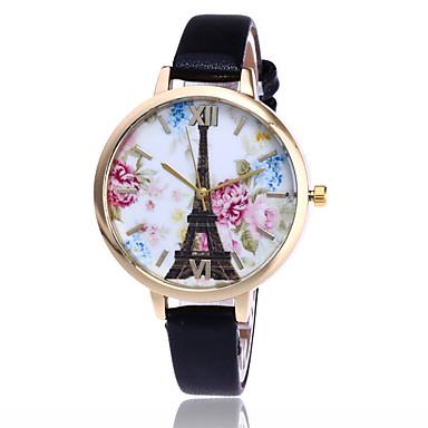 Bayanların Moda Saat Bilek Saati Quartz / PU Bant Eiffel Kulesi Havalı Günlük Siyah Beyaz Mavi Kırmızı Kahverengi Yeşil PembeSarı Kırmzı