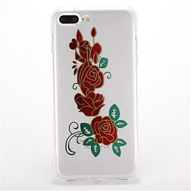 Kılıf Na Apple Odporne na wstrząsy Galwanizowane Wzór Etui na tył Kwiaty Miękkie TPU na iPhone 7 Plus iPhone 7 iPhone 6s Plus iPhone 6