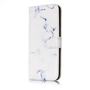 Pouzdro Uyumluluk Samsung Galaxy S8 S7 edge Kart Tutucu Cüzdan Satandlı Flip Temalı Manyetik Tam Kaplama Mermer Sert PU Deri için S8 S7