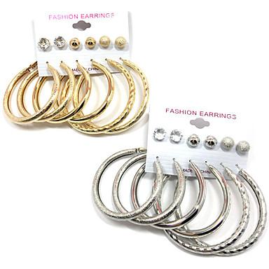 Γυναικεία Cubic Zirconia Κουμπωτά Σκουλαρίκια / Κρίκοι - Κρεμαστό κόσμημα / Multi-τρόπους Wear Χρυσό / Ασημί Κυκλικό Σκουλαρίκια Για