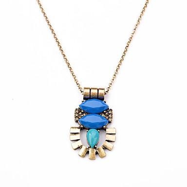 Pentru femei Coliere cu Pandativ Flower Shape Design Unic Personalizat Euramerican Negru Albastru Deschis Bijuterii PentruZilnic Cadouri