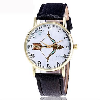 Męskie Zegarek na nadgarstek Modny Kwarcowy / PU Pasmo Nowoczesne Czarny Biały
