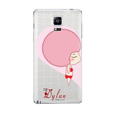 Για Διαφανής Με σχέδια tok Πίσω Κάλυμμα tok Κινούμενα σχέδια Μαλακή TPU για Samsung Note 5 Note 4 Note 3 Note 2
