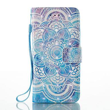 Pentru Carcase Huse Titluar Card Portofel Cu Stand Întoarce Model Corp Plin Maska Mandala Greu PU piele pentru AppleiPhone 7 Plus iPhone