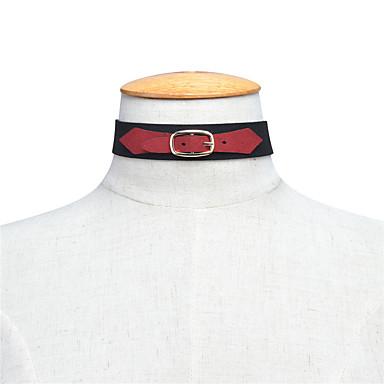 Pentru femei Șuviță unică Personalizat Euramerican stil minimalist Coliere Choker Bijuterii Material Textil Poliester Coliere Choker .