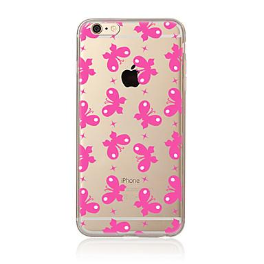 Για Διαφανής Με σχέδια tok Πίσω Κάλυμμα tok Πεταλούδα Μαλακή TPU για AppleiPhone 7 Plus iPhone 7 iPhone 6s Plus iPhone 6 Plus iPhone 6s