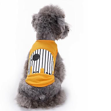 Kot Pies Yelek Ubrania dla psów Urocza Codzienne Modny Zwierzę Yellow Niebieski Kostium Dla zwierząt domowych