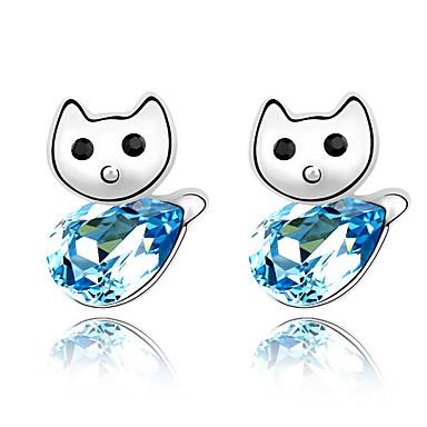 Pentru femei Cercei Stud Cristal Personalizat Design Unic Design Animal Euramerican Modă Bijuterii Pentru Nuntă Petrecere Zi de Naștere