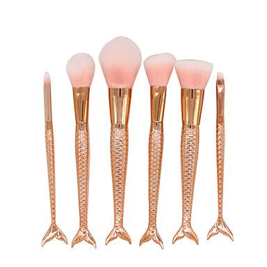 6 Contour Brush Perie Fond Perie Pudră Perie evantai Perie Corector Pieptene pentru gene (Rotund) Perie Blush Seturi perie Păr sintetic