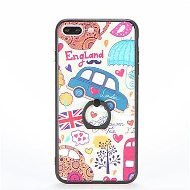 Pouzdro Uyumluluk Apple iPhone 7 Plus iPhone 7 Yüzüklü Tutacak Temalı Süslü Arka Kapak Karton Sert PC için iPhone 7 Plus iPhone 7 iPhone