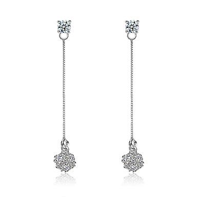 Damskie Kolczyki wiszące Syntetyczny diament Kwiaty Cyrkon Line Shape Biżuteria Na Ślub Impreza Codzienny Casual