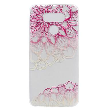 Için Şeffaf Temalı Pouzdro Arka Kılıf Pouzdro Çiçek Yumuşak TPU için LG LG G6 LG X Power