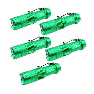 U'King LED Fenerler LED 1500 lm 3 Kip Cree XP-E R2 Zoomable Ayarlanabilir Fokus Kamp/Yürüyüş/Mağaracılık Günlük Kullanım Dış Mekan