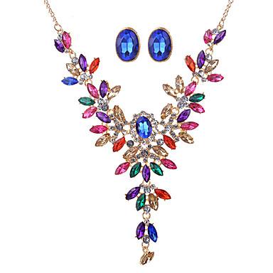 Kadın's Kristal Takı Seti - Kristal, Yapay Elmas Vintage, Moda, Euramerican Dahil etmek Gökküşağı Uyumluluk Düğün / Parti / Özel Anlar / Kolyeler