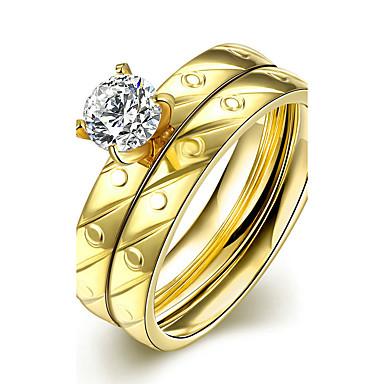 Γυναικεία Βέρες Δαχτυλίδι Δαχτυλίδι αρραβώνων Μοντέρνα μινιμαλιστικό στυλ Νυφικό Τιτάνιο Ατσάλι Κυκλικό Κοσμήματα Χριστουγεννιάτικα δώρα