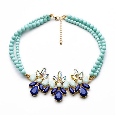 Damskie Pasemka Naszyjniki Flower Shape Unikalny euroamerykańskiej Dark Blue Biżuteria Na 1szt