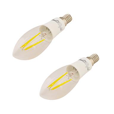 4W E14 LED Λάμπες Κεριά C37 4 leds COB Θερμό Λευκό 350lm 3000