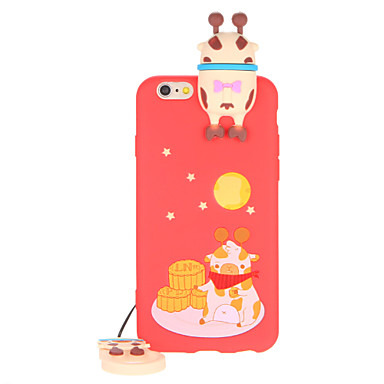 Maska Pentru iPhone 7 Plus iPhone 7 iPhone 6s Plus iPhone 6 Plus iPhone 6s iPhone 6 Apple Model Capac Spate Desene 3D Moale TPU pentru