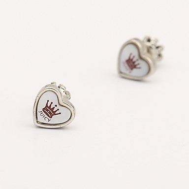 Kadın's Vidali Küpeler Kristal Kişiselleştirilmiş Eşsiz Tasarım Aşk Kalp Euramerican Mücevher Uyumluluk Düğün Parti Doğumgünü