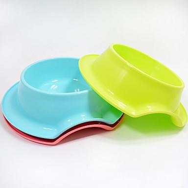 قط كلب الطاسات وزجاجات حيوانات أليفة السلطانيات والتغذية مقاوم للماء المحمول أصفر أحمر أخضر أزرق