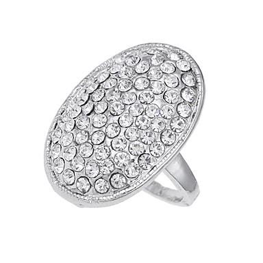 Ανδρικά Γυναικεία Band Ring Ασημί Διαμάντι Κράμα Circle Shape Μοναδικό Λογότυπο Βίντατζ Euramerican Πάρτι Ειδική Περίσταση Κοστούμια