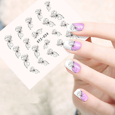 5pcs/set Nail Art autocolant Decals de transfer de apă machiaj cosmetice Nail Art Design