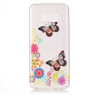 غطاء من أجل Samsung Galaxy S8 Plus S8 IMD شفاف نموذج غطاء خلفي فراشة ناعم TPU إلى S8 S8 Plus S7 edge S7 S6 edge S6 S5