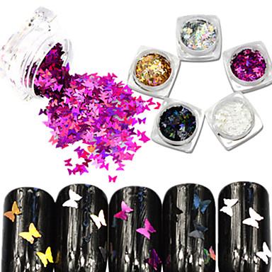 5bottle/set Κοσμήματα νυχιών / Glitter & Poudre Glitters / Κινούμενα σχέδια / Γάμος Lovely Καθημερινά / Φωτεινότητα