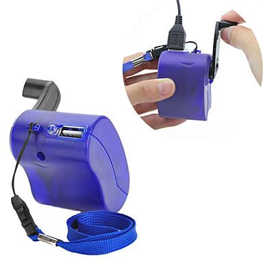 mp4 mp3 için usb el kol manuel dinamo cep telefonu şarj cihazı acil mavi pda-- mobil