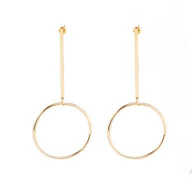 billige Øreringe-Dame Store øreringe dingle øreringe Øreringe Erklæring Personaliseret Europæisk Mode Euro-Amerikansk Smykker Guld / Sølvfarvet Til Fest Daglig Afslappet