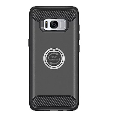 Kılıf Na Samsung Galaxy S8 Plus S8 Odporne na wstrząsy Uchwyt pierścieniowy Obrót 360° Czarne etui Solid Color Twarde PC na S8 Plus S8