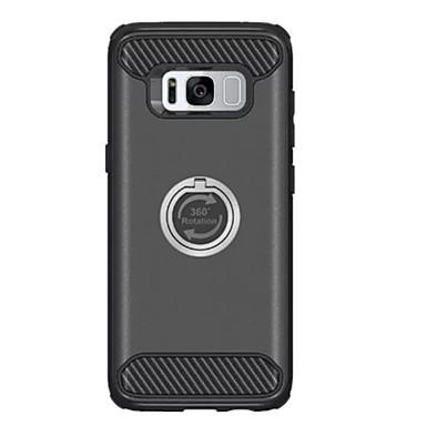 tok Για Samsung Galaxy S8 Plus S8 Ανθεκτική σε πτώσεις Βάση δαχτυλιδιών Περιστροφή 360° Πίσω Κάλυμμα Συμπαγές Χρώμα Σκληρή PC για S8 S8