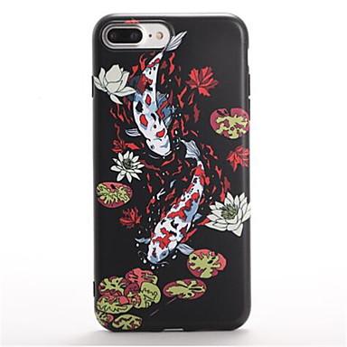 Varten Kuvio Etui Takakuori Etui Eläin Pehmeä TPU varten Apple iPhone 7 Plus iPhone 7