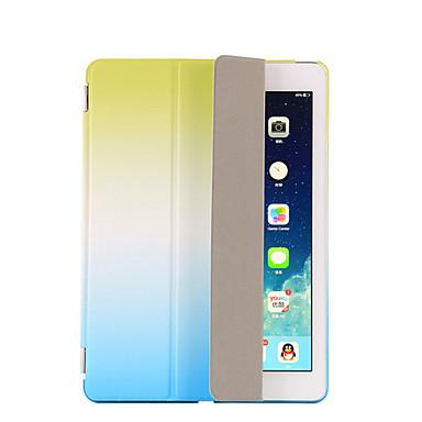 Pentru Cu Stand Auto Sleep / Wake Întoarce Origami Maska Corp Plin Maska culoare Gradient Greu PU piele pentru AppleiPad (2017) iPad Pro