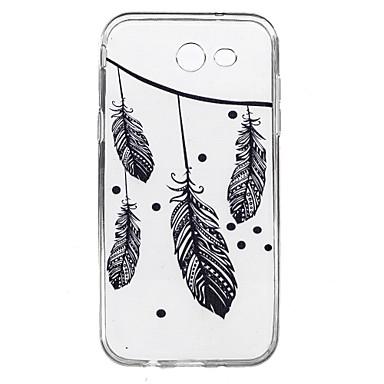 Samsung galaxy j7 j5 kotelon suojus höyhenet kuvio korkea tunkeuma tpu materiaali puhelimen kotelo j7 j5 j3 (2016) j7 j5 j3