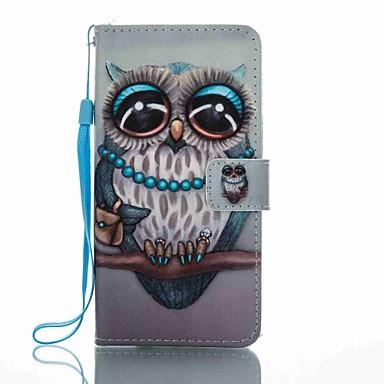 Pentru Portofel Titluar Card Cu Stand Întoarce Model Maska Corp Plin Maska Bufniță Greu PU piele pentru HuaweiHuawei P8 Lite (2017)