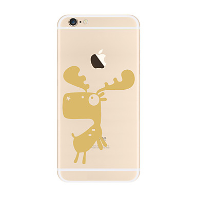 من أجل أغط / كفرات شفاف نموذج غطاء خلفي غطاء كارتون ناعم TPU إلى Apple فون 7 زائد فون 7 iPhone 6s Plus iPhone 6 Plus iPhone 6s أيفون 6