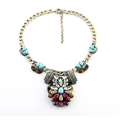 Γυναικεία Κολάρα Flower Shape Πεπαλαιωμένο Μπρονζέ Κοσμήματα Για 1pc