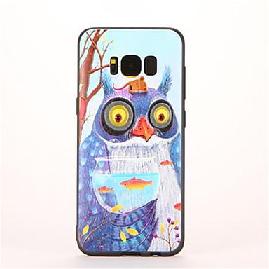 Için Temalı Pouzdro Arka Kılıf Pouzdro Baykuş Yumuşak TPU için Samsung S8