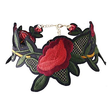Naisten Choker-kaulakorut - Flower Kukka-aihe, Kukka, Kukkaset Punainen Kaulakorut Käyttötarkoitus Häät, Party, Erikoistilaisuus
