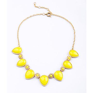 Damskie Pasemka Naszyjniki Kropla Unikalny Modny Yellow Light Blue Biżuteria Na Ślub 1szt