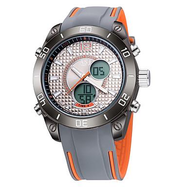 ASJ للرجال كوارتز رقمي ساعة رقمية فريدة من نوعها الإبداعي ووتش ساعة المعصم ساعة رياضية ياباني رزنامه مقاوم للماء قضية ساعة التوقف منطقتا