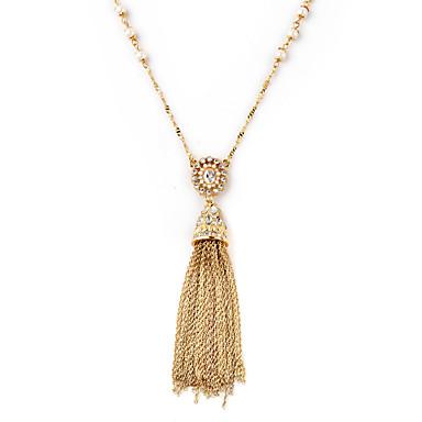 Kadın's Uçlu Kolyeler Kristal Mücevher Eşsiz Tasarım Püsküller Altın Mücevher Için Doğumgünü 1pc