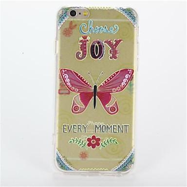 Για Με σχέδια tok Πίσω Κάλυμμα tok Πεταλούδα Σκληρή PC για Apple iPhone 7 Plus iPhone 7 iPhone 6s Plus iPhone 6 Plus iPhone 6s iPhone 6