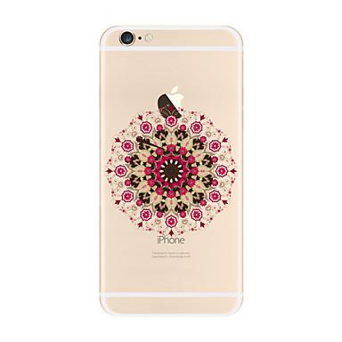 Maska Pentru Apple iPhone X iPhone 8 Plus Transparent Model Carcasă Spate Mandala Moale TPU pentru iPhone X iPhone 8 Plus iPhone 8 iPhone