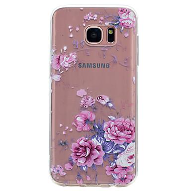 Maska Pentru Samsung Galaxy S8 S7 edge Transparent Model Carcasă Spate Floare Moale TPU pentru S8 S7 edge S7 S6 edge S6 S5 Mini S5