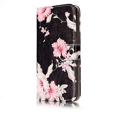 Için Cüzdan Kart Tutucu Satandlı Flip Temalı Pouzdro Tam Kaplama Pouzdro Çiçek Sert PU Deri için HuaweiHuawei P10 Lite Huawei P10 Huawei