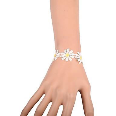 Γυναικεία Βραχιόλια με Αλυσίδα & Κούμπωμα Μοντέρνα Δαντέλα Flower Shape Κοσμήματα Για Γάμου Πάρτι Ειδική Περίσταση Γενέθλια