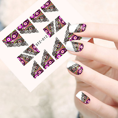 5pcs/set Nail Art αυτοκόλλητο Αυτοκόλλητα Νερό Μεταφορά μακιγιάζ Καλλυντικά Σχεδιασμός νυχιών Τέχνης